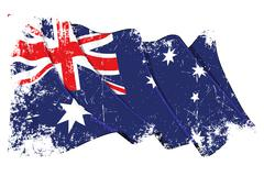 Grange Flag of Australia - stock illustration