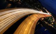 Traffic on freeway Stock Photos