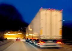 truck in movement - stock photo