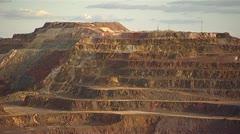 Open cast mining - Rio Tinto - Spain Stock Footage