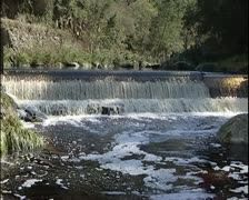 Water weir in river PAL Stock Footage