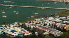 42 Ships and yachts park ashore in Pattaya Stock Footage