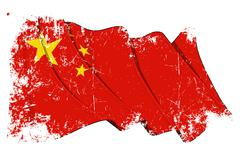 Grange Flag of China Stock Illustration