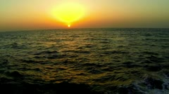 Sunset and sea Stock Footage