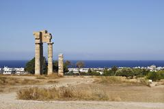 acropolis of rhodes - stock photo