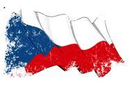 Grunge Flag of Czech Republic Stock Illustration