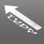 Signal Arrow and Word Turn Left on Asphalt Road Background Stock Illustration