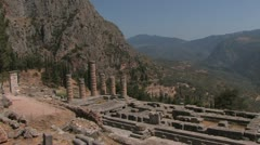 Oracle of Delphi, Greece, Peloponnes - stock footage