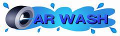 Auton pyörä sininen väri Car Wash Tarra Piirros