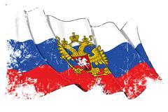Grange State Flag of Russia - stock illustration