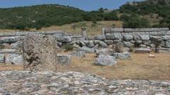 Greek Ruins with greek pillars Stock Footage