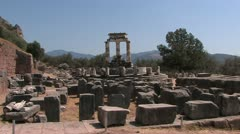 Oracle of Delphi, Greece, Peloponnes Stock Footage