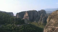 Stock Video Footage of Rock Monasteries in Meteora, Greece