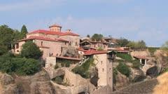 Rock Monasteries in Meteora, Greece Stock Footage