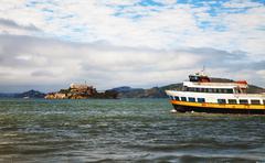 Alcatraz island in san francisco bay, california Stock Photos