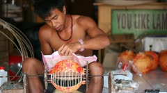 Balinese produces light Stock Footage