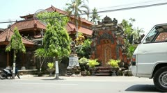 Street in Southeast Asia Stock Footage