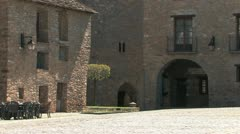 Ainsa, medieval town in the Pyrenees Stock Footage