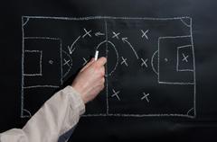 Football tactics Stock Photos