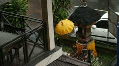 Rain on the street Stock Footage