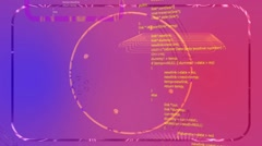 Abstract Source Code Animation - stock footage