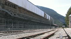 Canfranc-Estacion, highest railway station in Europe Stock Footage