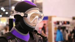 Exhibition of equipment for scuba diving 1 Stock Footage