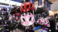 Stock Video Footage of bicycle helmets 1