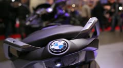 Motorcycle exhibition, bmw 2 Stock Footage