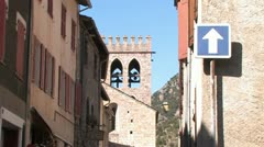 Medieval town of Villefranche in France, Pyrenees Stock Footage