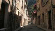 Stock Video Footage of medieval town of Villefranche in France, Pyrenees