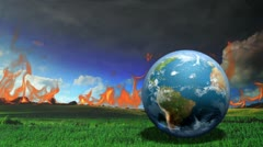 Earth Burn Stock Footage