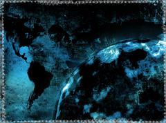 Grunge maailmankartalla Kuvituskuvat