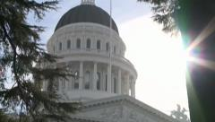 CALIFORNIA STATE CAPITOL BUILDING SACRAMENTO HD HIGH DEFINITION 1920 X 1080 Stock Footage