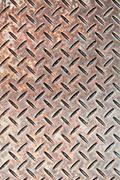 checkerplate steel - stock photo