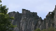 Pyrenees - Romantic castles and ruins in the mountains, France Stock Footage