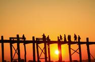 Stock Photo of activity in the sunset