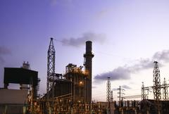 Petrochemical industrial plant. Stock Photos