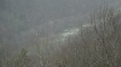 Snow over the New River Gorge(HD) k Stock Footage