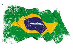 Grange Flag of Brazil Stock Illustration