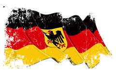 Grange State Flag of Germany Stock Illustration