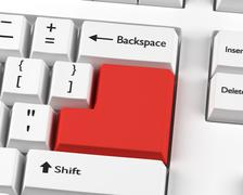 Blank enter key concept - stock photo