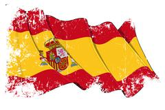Grange Flag of Spain Stock Illustration