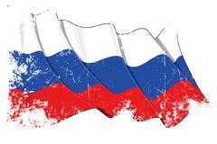Grange National Flag of Russia - stock illustration