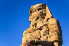 Ancient sculpture of colossus memnon Stock Photos