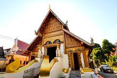 Temple in chiang rai thailand Stock Photos