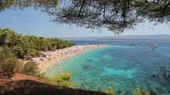 Summertime at Adriatic Sea - stock footage