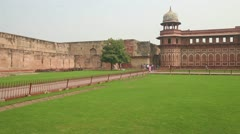 Historic buildings in Agra fort - India Stock Footage