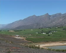 Wine producing farms of the Western Cape, South Africa Stock Footage