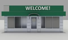 Illustration of shop - kiosk  exterior - stock illustration